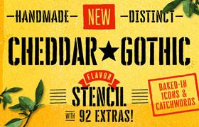 Cheddar Gothic 邮票钢印英文字体
