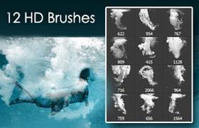 12种潜泳水花 Photoshop笔刷