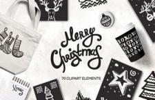 圣诞元素插图,AI源文件