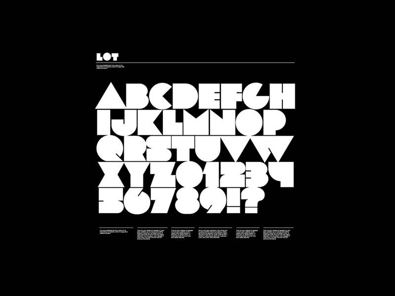 LOT 大色块抽象英文字体