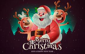 圣诞主题创意海报,AI源文件