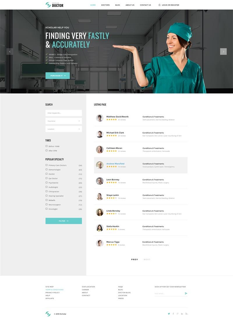 欧美医院网站PSD模板