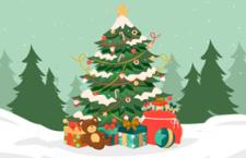 6张圣诞树矢量素材,AI源文件