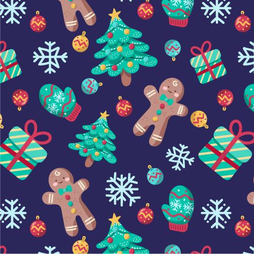 10套圣诞背景素材,AI源文件