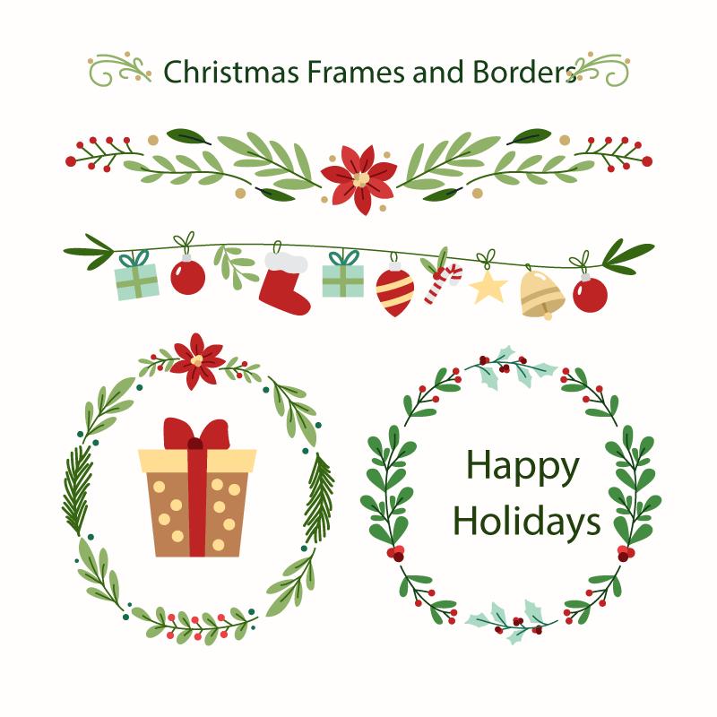 2019年圣诞主题素材包,AI源文件