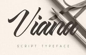 Viana Script 手写英文字体,免费可商用