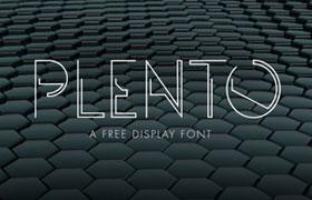 Plento 科技感英文字体