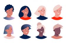世界各国面孔头像插图,AI源文件