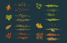 19种落叶Photoshop笔刷