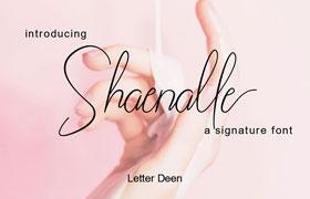 Shaenalle 签名英文字体