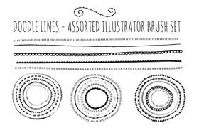 13种手绘分割线AI笔刷