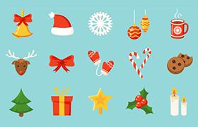 24枚圣诞主题矢量图标,AI源文件