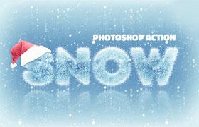 冰雪字体效果 Photoshop动作