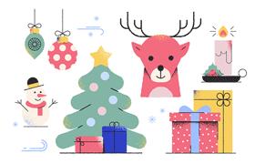 30枚圣诞节插画风矢量图标,SVG格式
