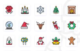 50枚圣诞主题图标,AI源文件