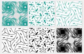 6种抽象背景图案,pat格式