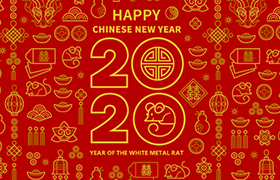 喜庆新春背景矢量素材,AI源文件