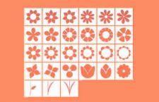 30种花草剪影ps形状,csh格式