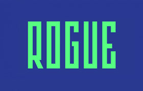 Rogue扁长型英文字体,免费商用