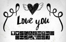 18个情人节主题PS形状,csh格式