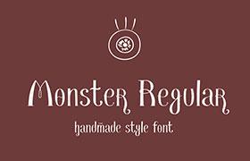Monster 复古英文字体