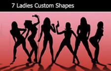 7个性感女性剪影PS形状,csh格式