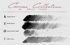 8种复古画布纹理Photoshop笔刷