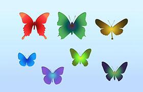 8个蝴蝶PS形状,csh格式