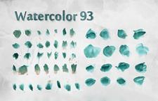 93种水粉质感Photoshop笔刷