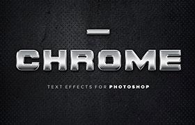 5种<font color=red>金属</font>质感字体样式,PSD源文件