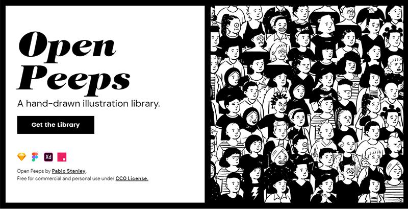 openpeeps:60万个手绘人物插图库,免费可商用
