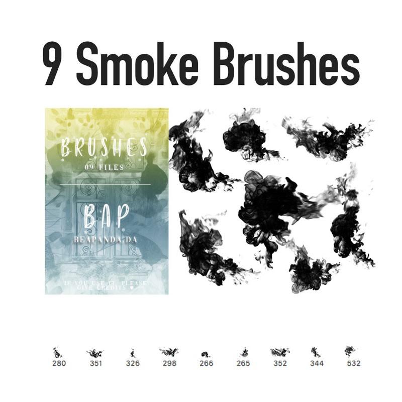 9张真实烟雾的Photoshop笔刷