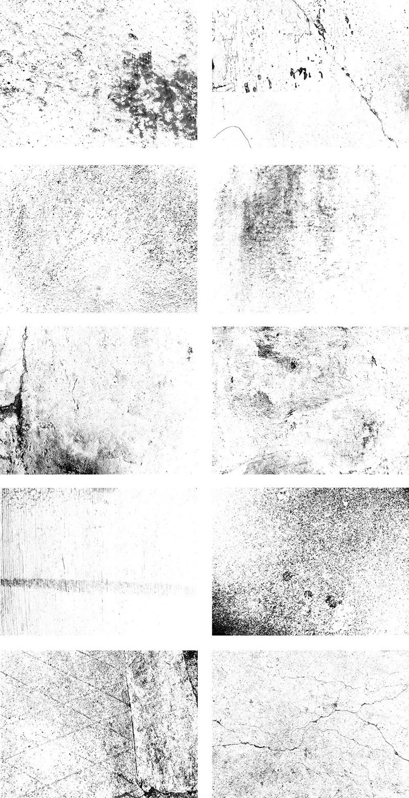 10种斑驳裂痕Photoshop笔刷