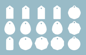 16种礼物标签PS形状,csh格式