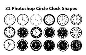 31个Photoshop时钟形状
