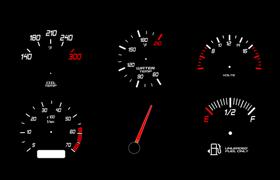 汽车码表油表PS形状,CSH格式