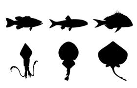 27种海洋生物PS形状,CSH格式