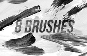 8种油漆笔画PS笔刷