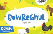 Bowreghul 有趣的英文字体