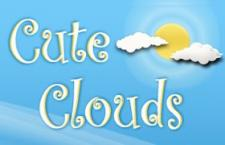 5个可爱云朵PS形状