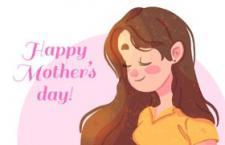 母亲节宣传海报插画,AI源文件