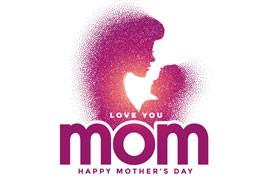 6张母亲节剪影海报,AI源文件