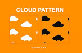 可爱云朵PS图案