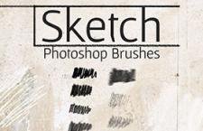 15个碳笔铅笔纹理PS笔刷