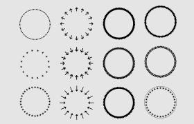 18个圆环PS自定义形状