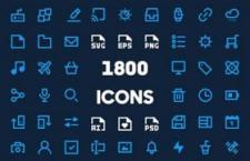 1800枚UI粗线小图标合集,PSD AI Sketch等多格式打包下载
