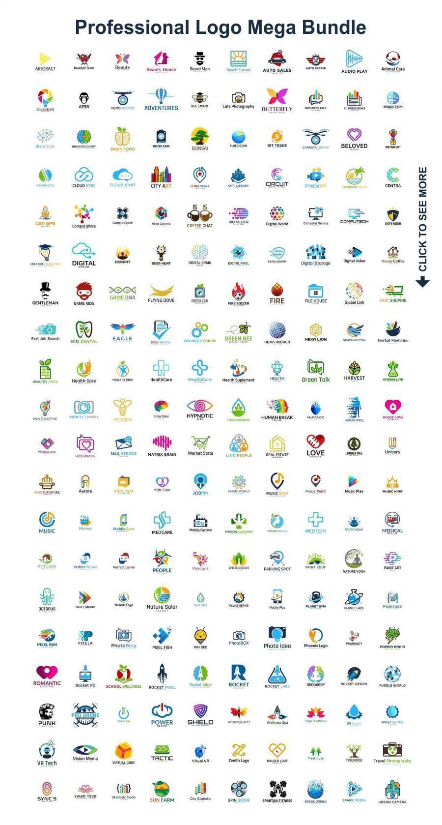 200款LOGO矢量模板合集,AI源文件