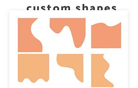 10个波浪PS自定义形状,CSH格式
