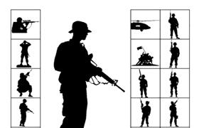 14个陆军PS自定义形状,CSH格式
