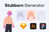 Stubborn:扁平插画矢量资源库,免费可商用